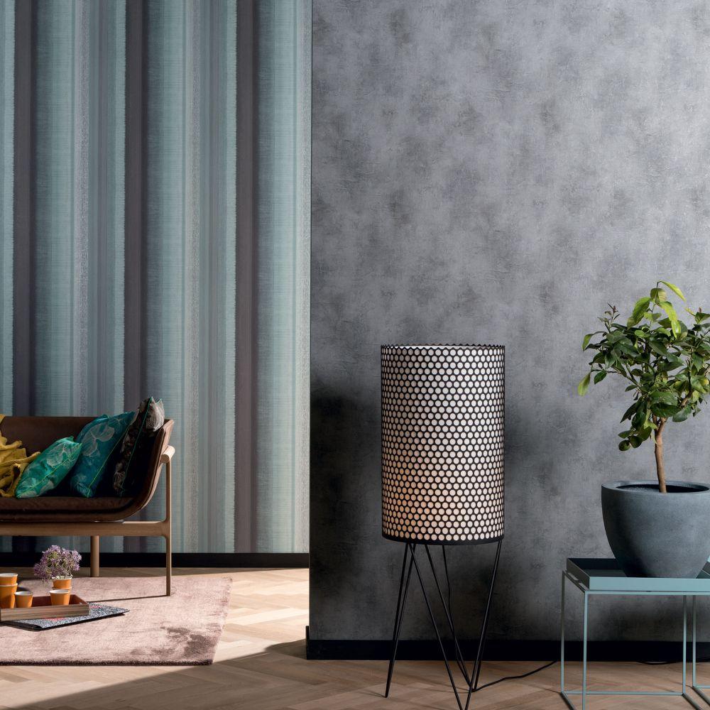 Tall Stripe Wallpaper - Aqua - by Galerie