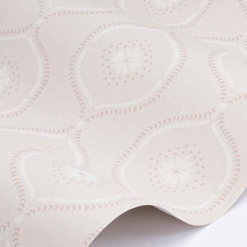 Milcombe  Wallpaper - Powder Pink - by Sanderson