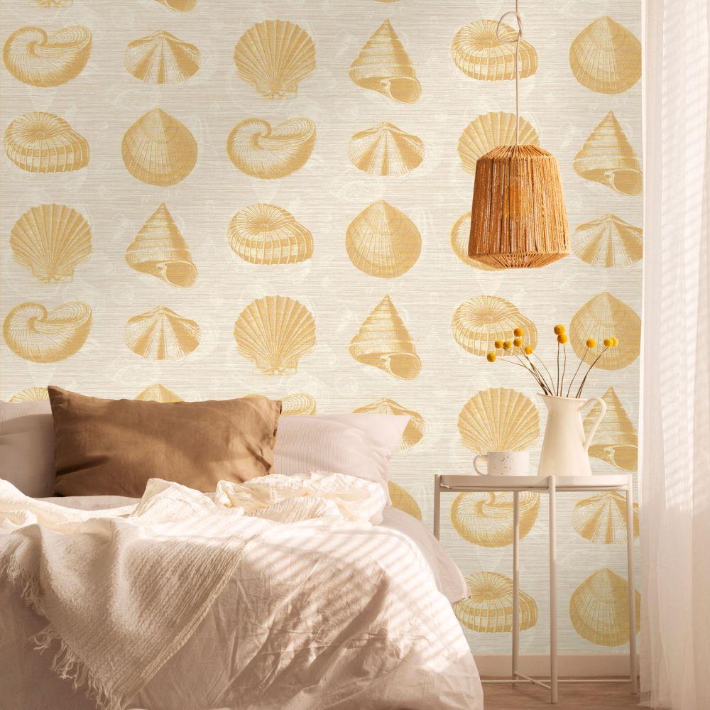 Martinique  Wallpaper - Yellow - by Elizabeth Ockford