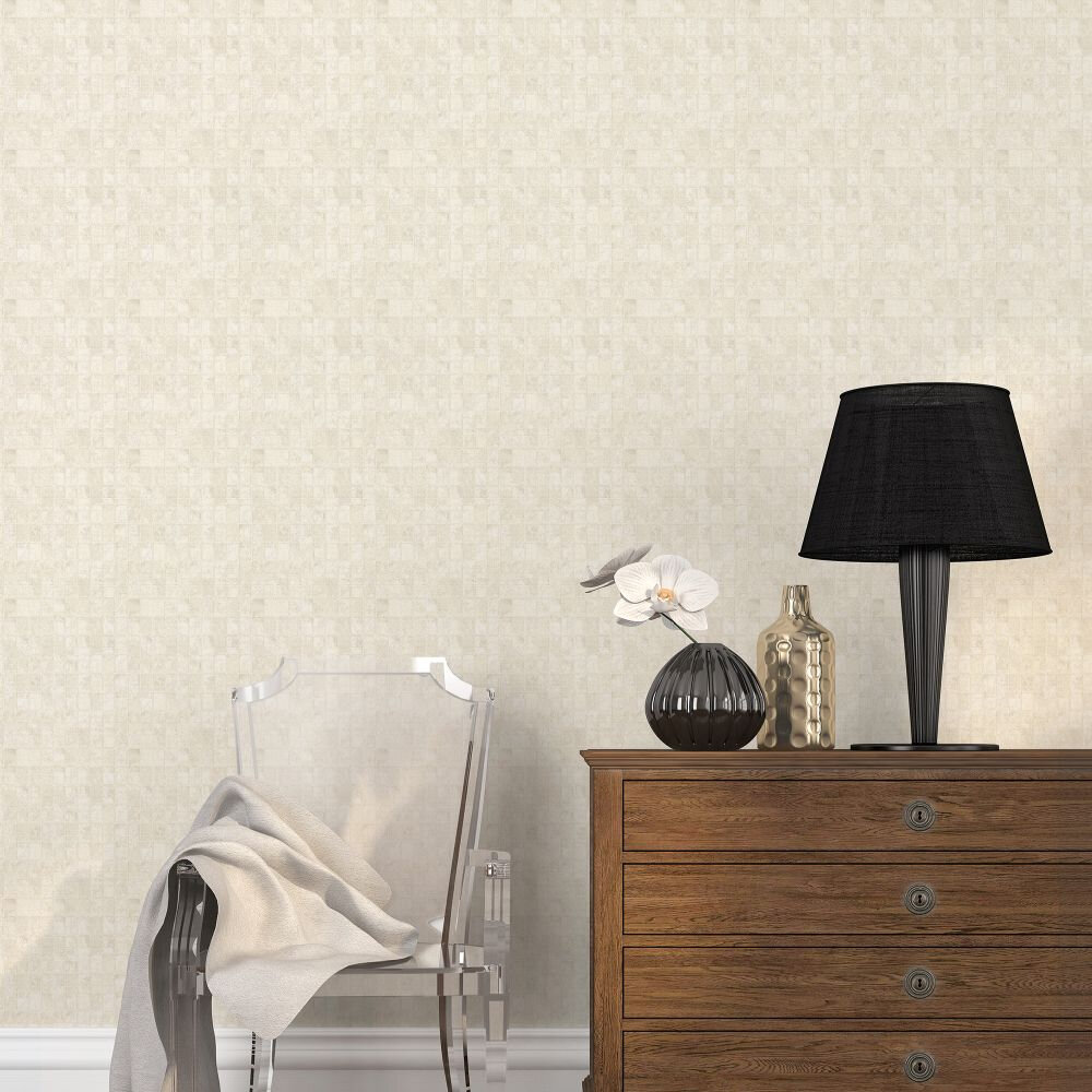 Tile Wallpaper - Soft Gold - by Galerie
