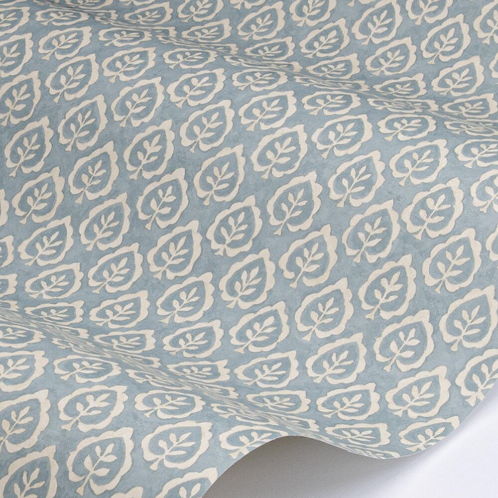 Fencott Wallpaper - Blue - by Sanderson