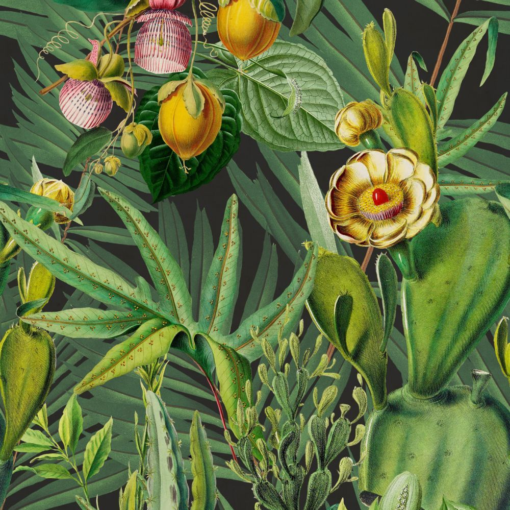 Luscious Flora Mural - Green - by Mind the Gap
