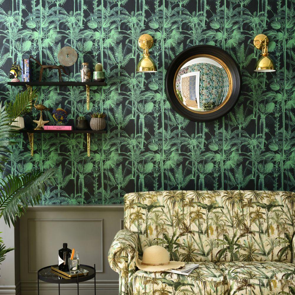 Palmera Cubana Mural - Emerald - by Mind the Gap