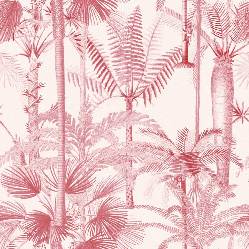 Palmera Cubana Mural - Pink - by Mind the Gap