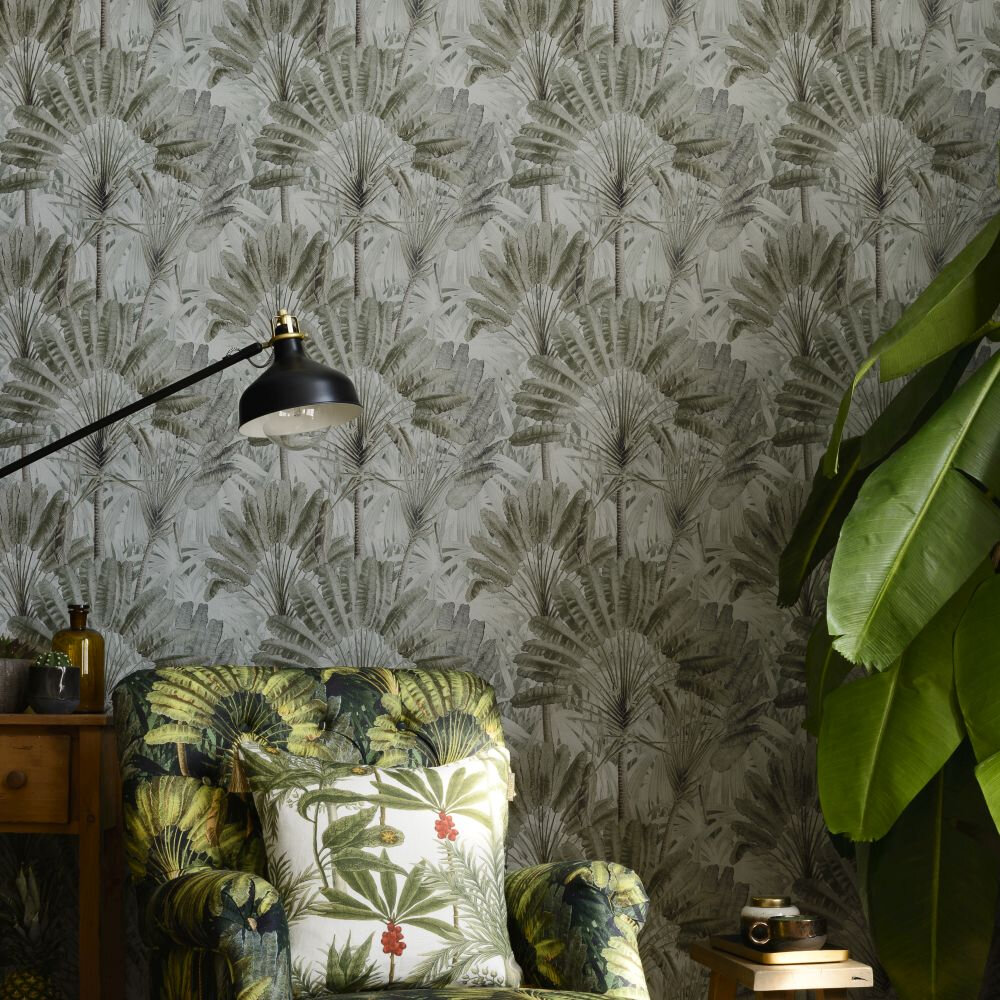 Travellers Palm Mural - Neutral - by Mind the Gap