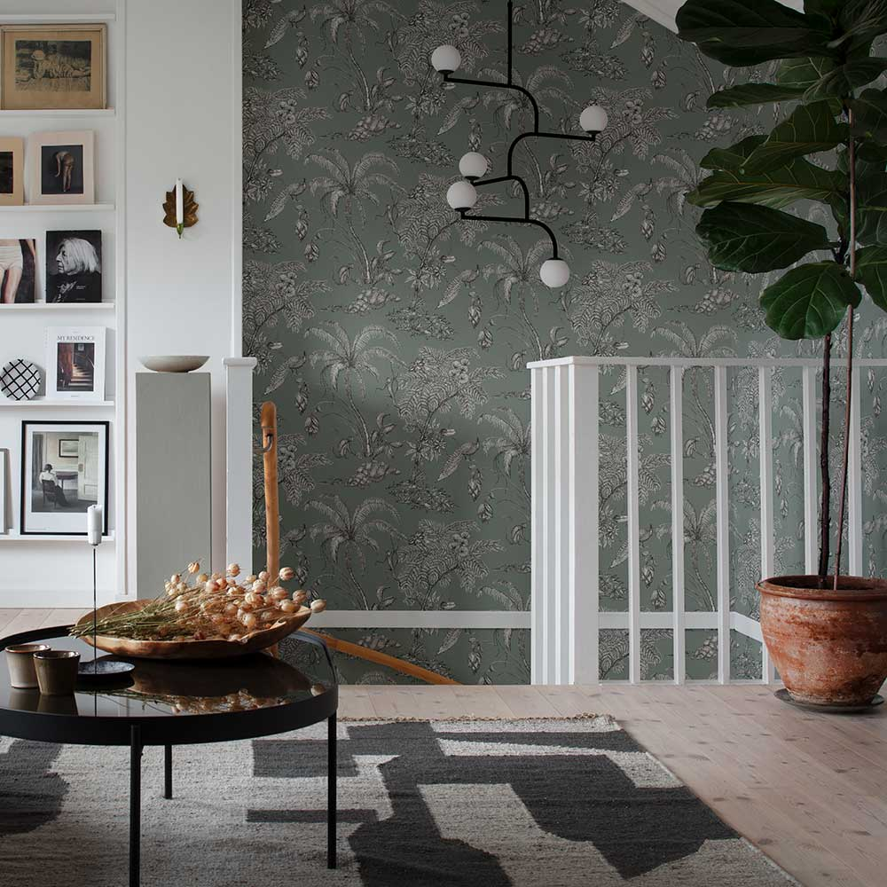 Moa Wallpaper - Juniper - by Sandberg