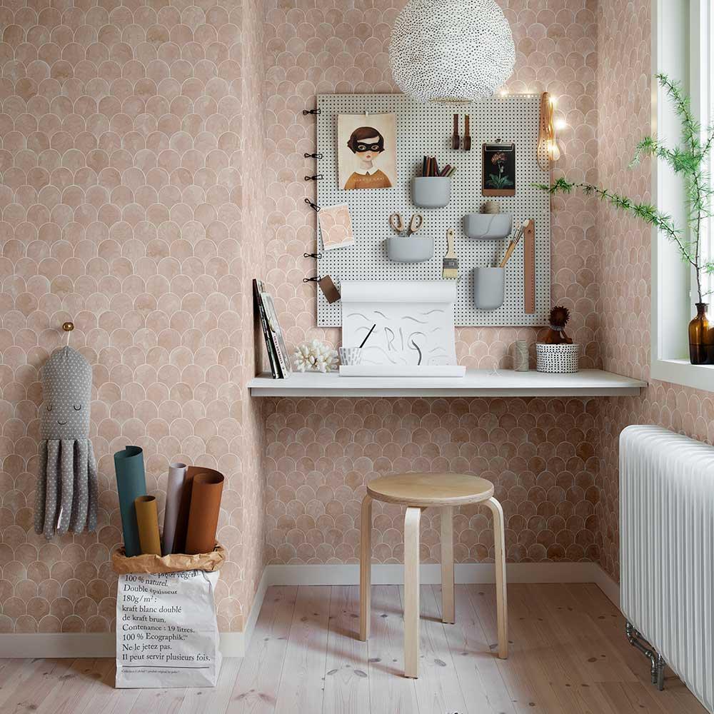 Igor Wallpaper - Coral - by Sandberg
