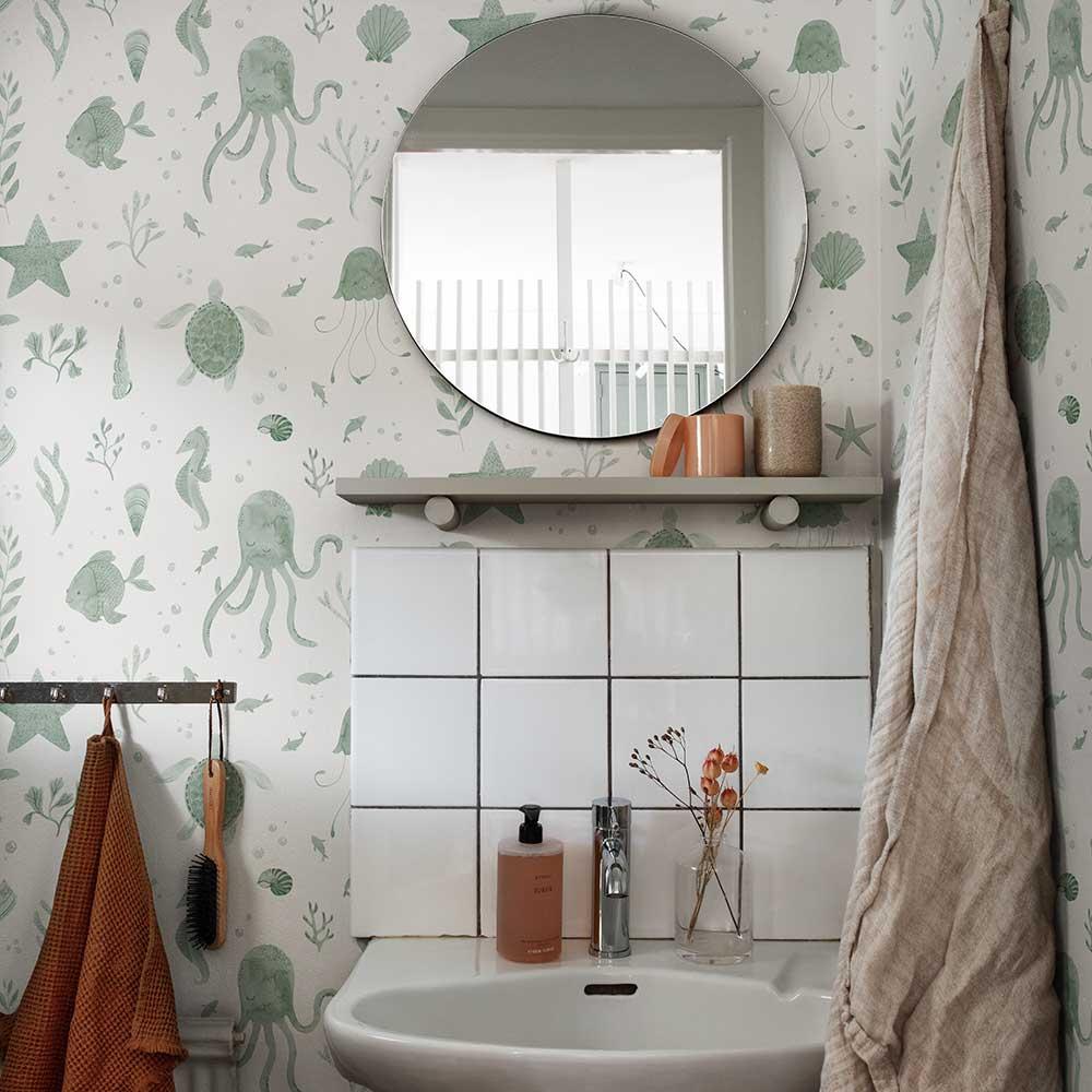 Della Wallpaper - Jade - by Sandberg