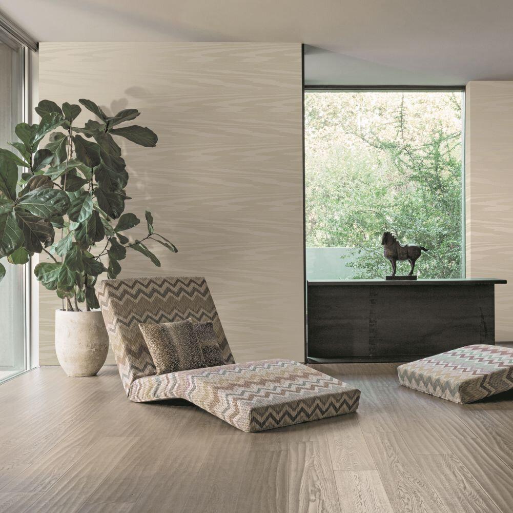 Fiamma  Wallpaper - Beige - by Missoni Home