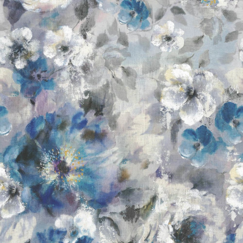 1838 Wallcoverings Bloom  Sapphire Mural - Product code: 1906-130-01