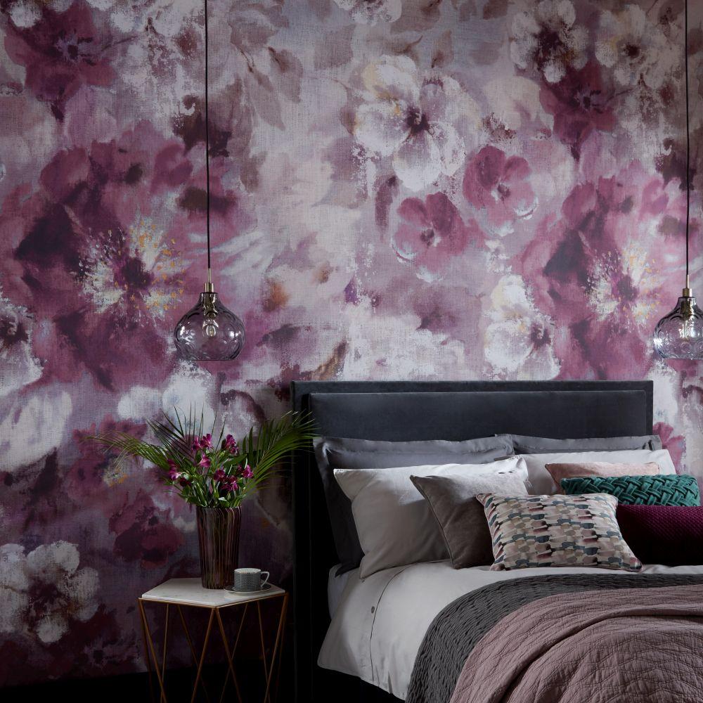 Bloom  Mural - Magenta - by 1838 Wallcoverings