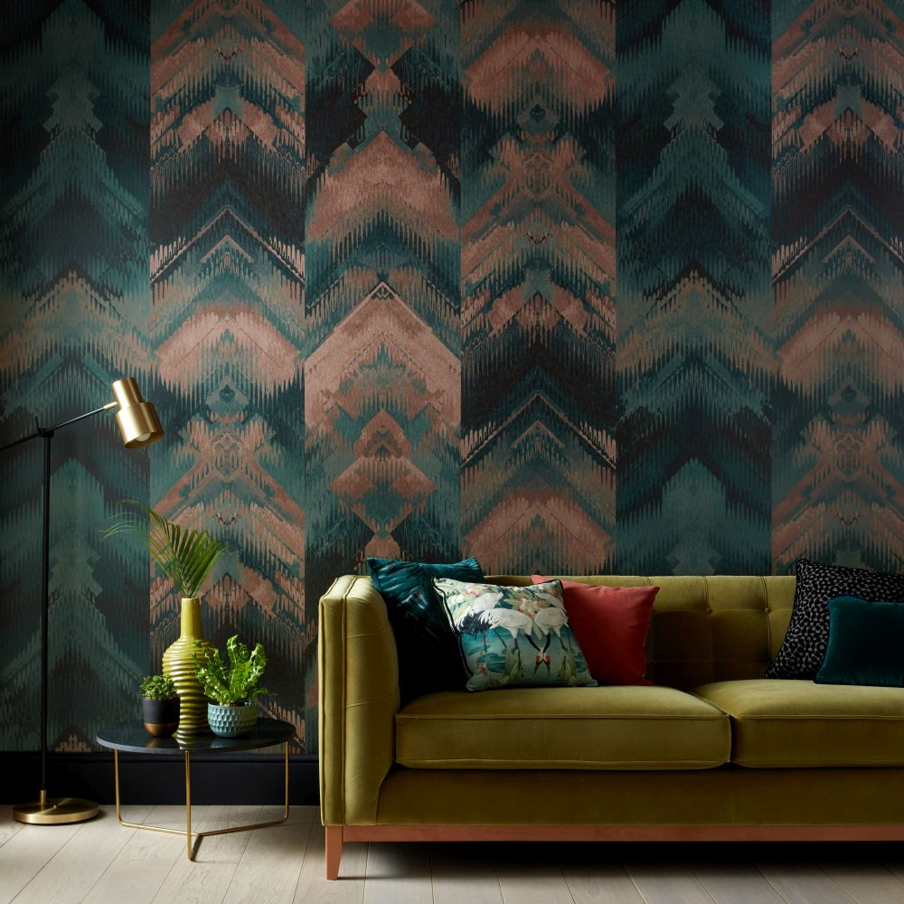 Reflections Mural - Jade - by 1838 Wallcoverings