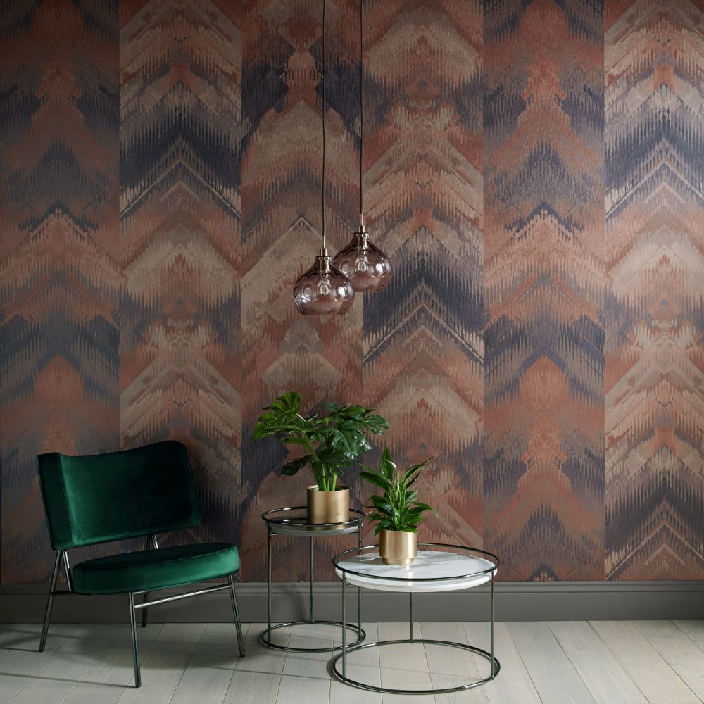 Reflections Mural - Copper - by 1838 Wallcoverings