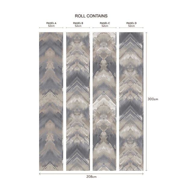 1838 Wallcoverings Reflections Pewter Mural - Product code: 1906-132-03