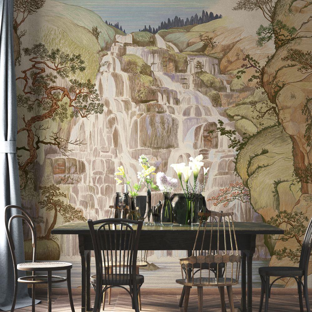 Fallingwater Mural - Summer - by Coordonne