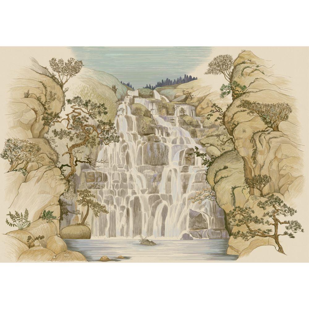 Fallingwater Mural - Autumn - by Coordonne