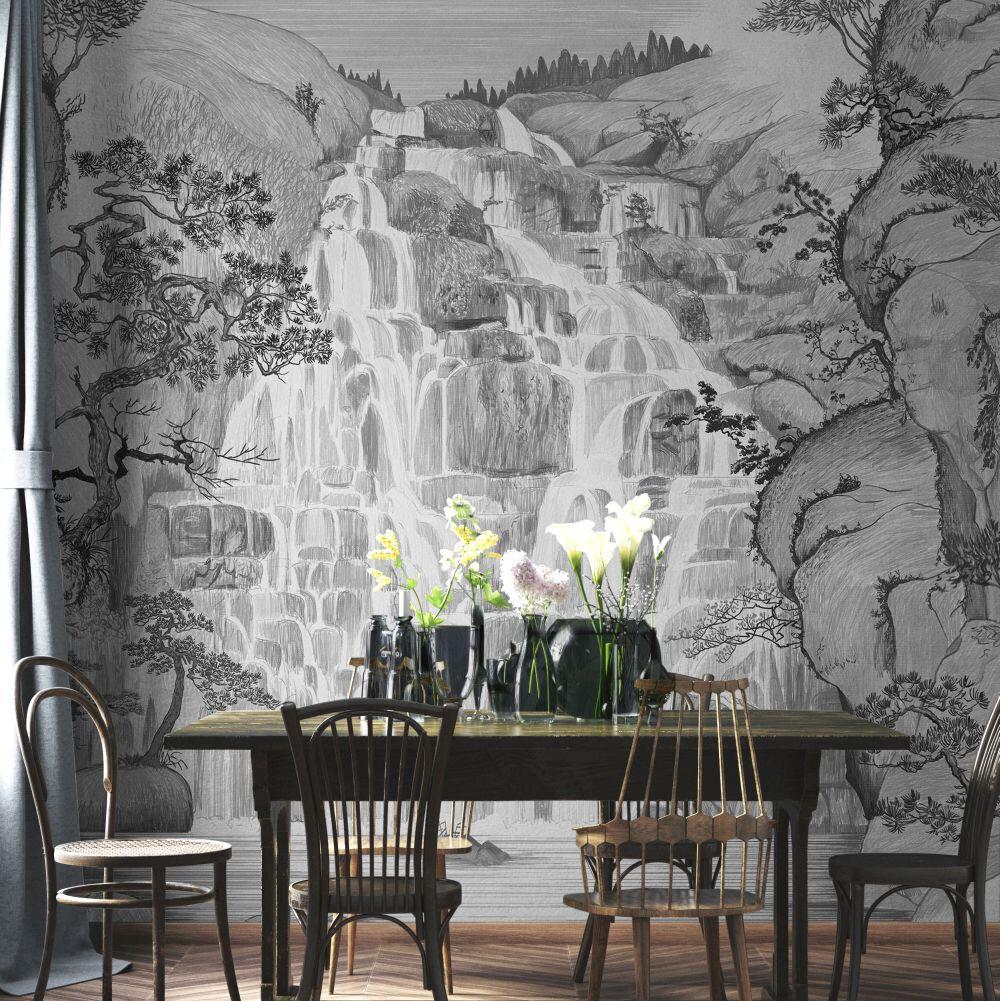 Fallingwater Mural - Winter - by Coordonne