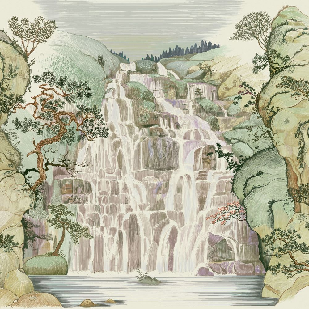 Fallingwater Mural - Spring - by Coordonne
