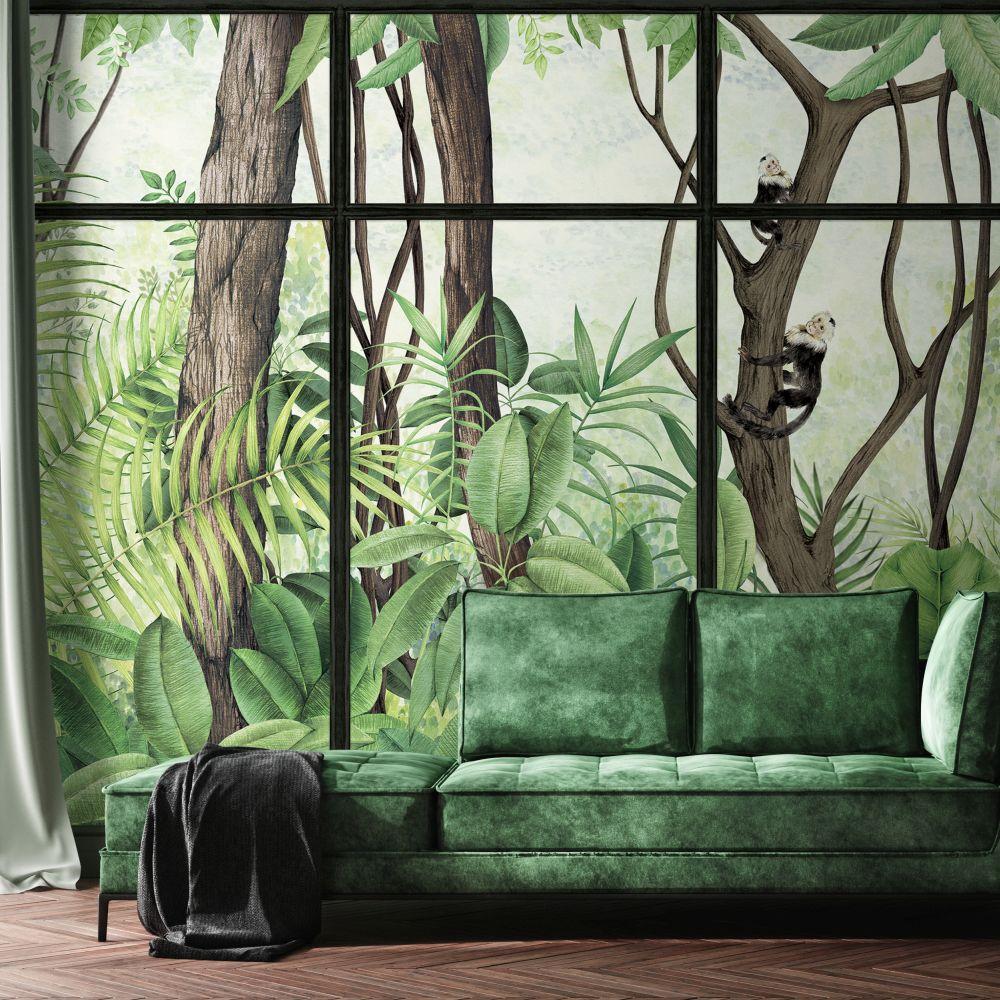 Casa de Vidro Mural - Sunrise Frame - by Coordonne