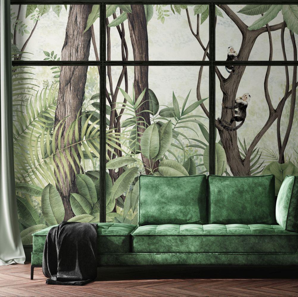 Casa de Vidro Mural - Sunset Frame - by Coordonne