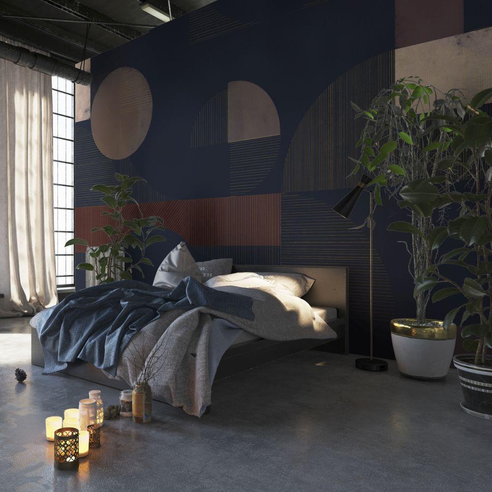 Azulejos Mural - Navy - by Coordonne