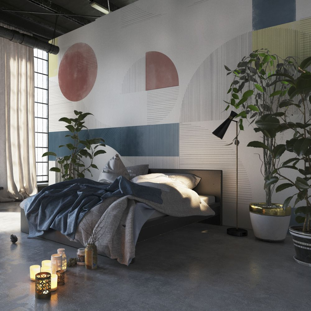 Azulejos Mural - Multi  - by Coordonne