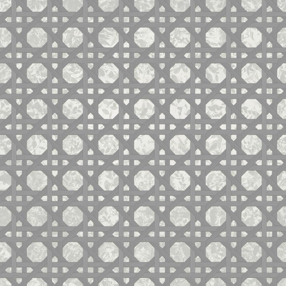 Ratan Mural - Grey - by Coordonne