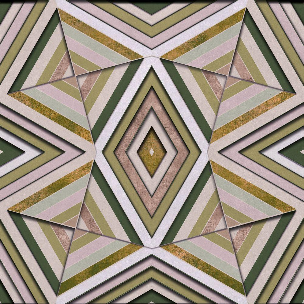 Rubik Mural - Olive - by Coordonne