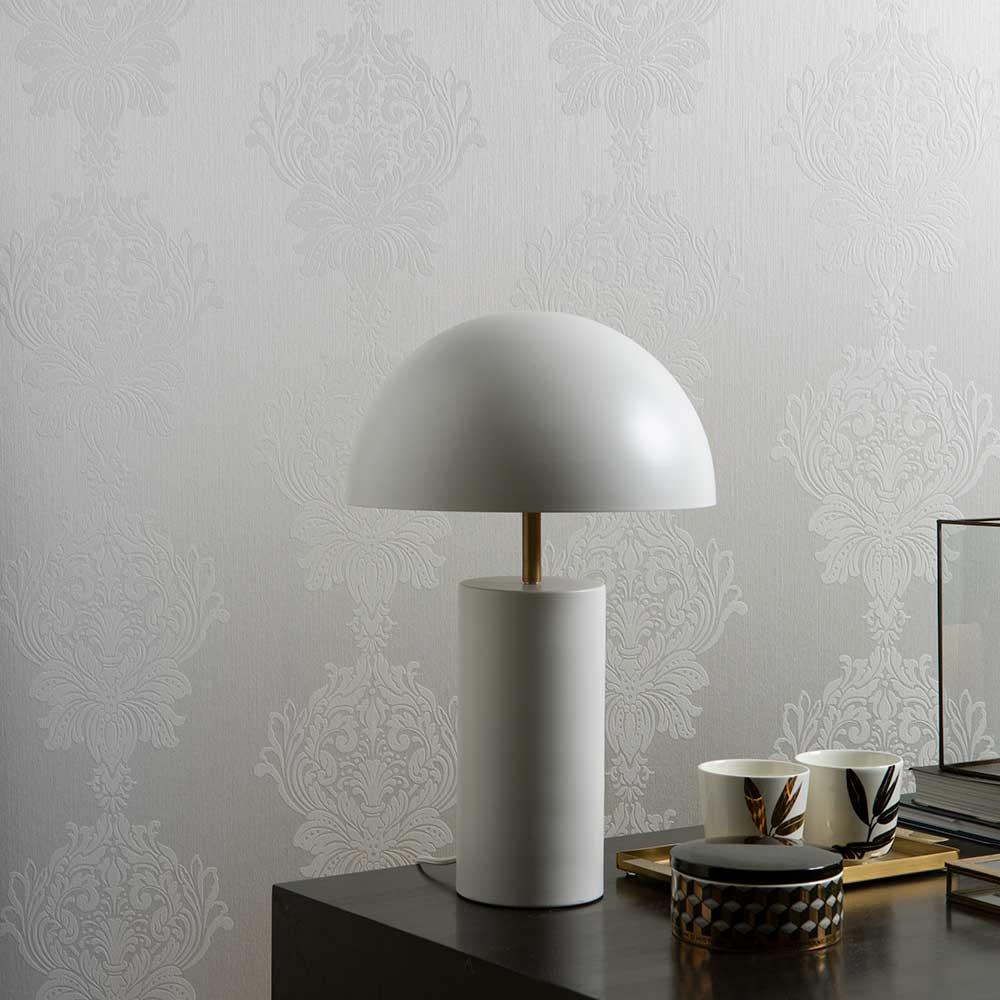 Damask Stripe Wallpaper - Pearl - by Elite Wallpapers
