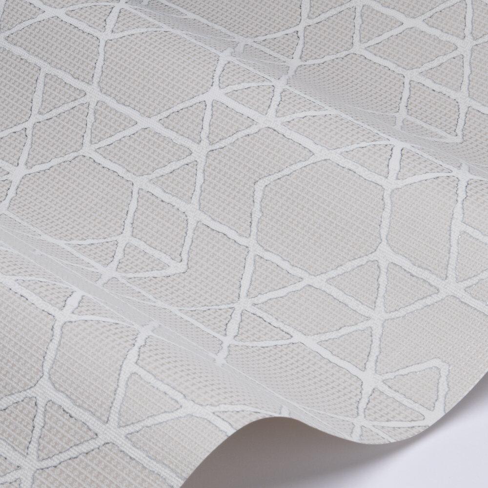 Geo Line Wallpaper - Cream - by Galerie