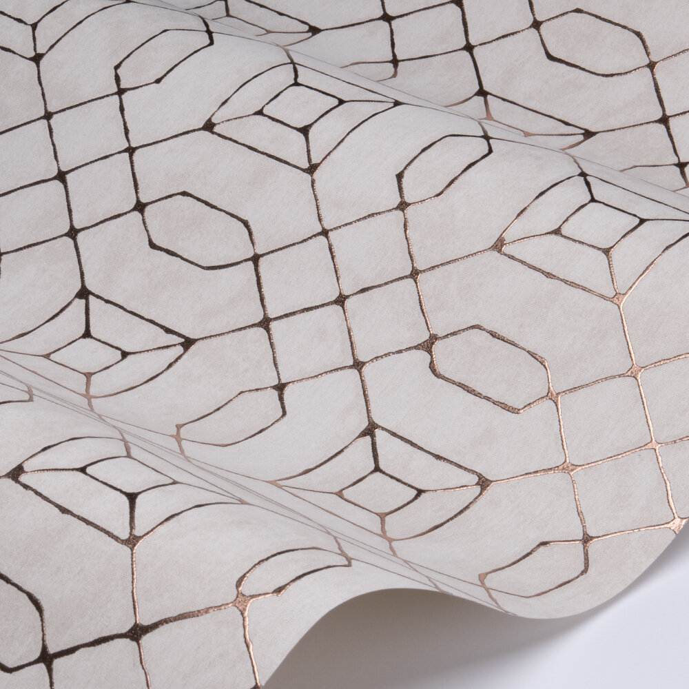 Geo Line Wallpaper - Ivory - by Galerie