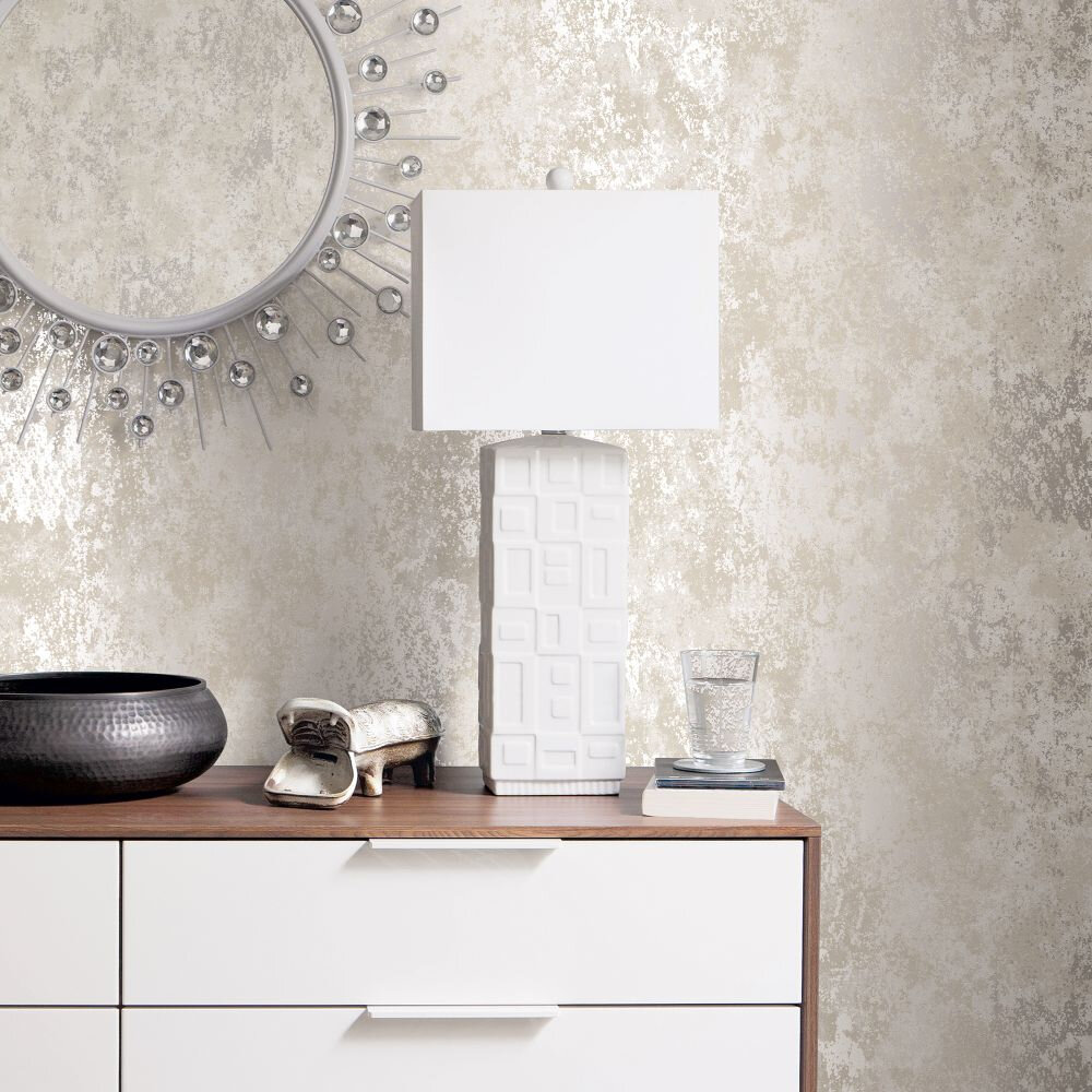 Concrete Wallpaper - Grey - by Galerie