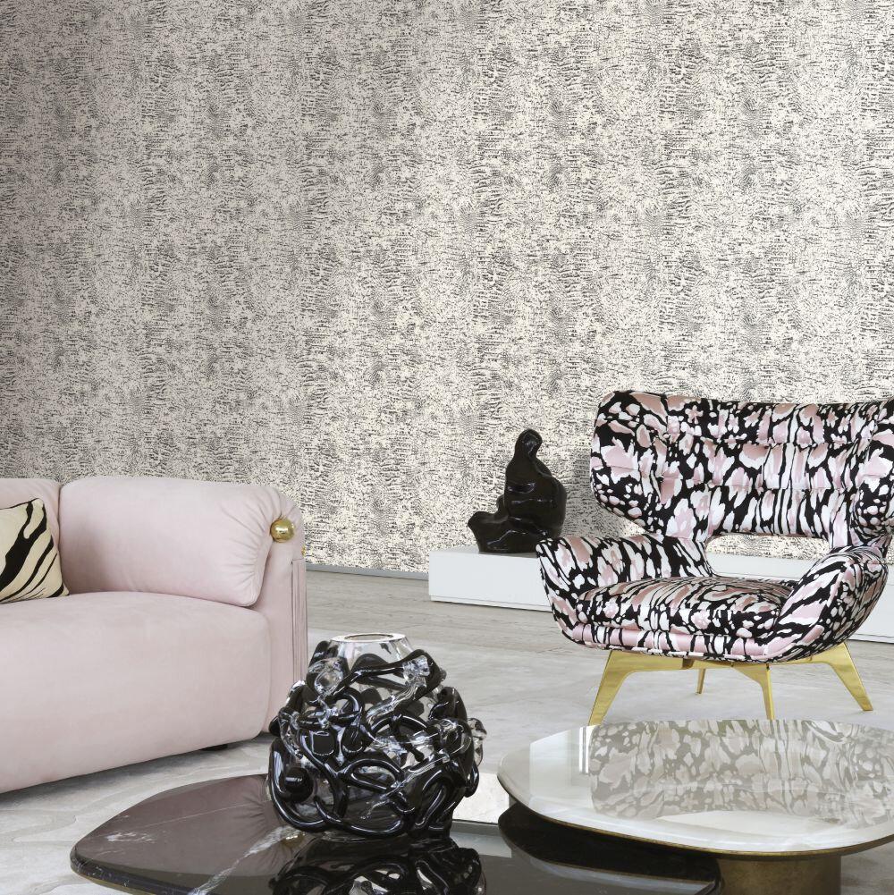 Unito Croco Wallpaper - Mono - by Roberto Cavalli