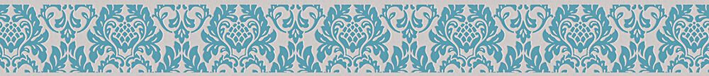 Damask Border - Blue - by Albany