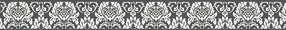 Damask Border - Black / White - by Albany
