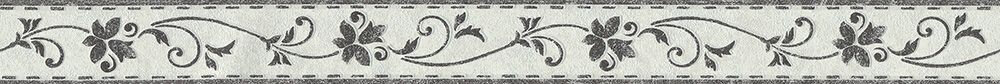 Flower Stitch Border - Black / White - by Albany