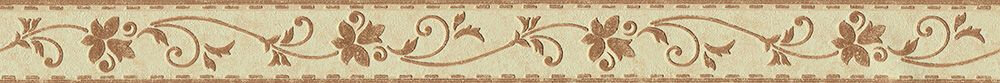 Flower Stitch Border - Brown - by Albany
