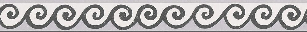 Swirl Border - Black / White - by Albany