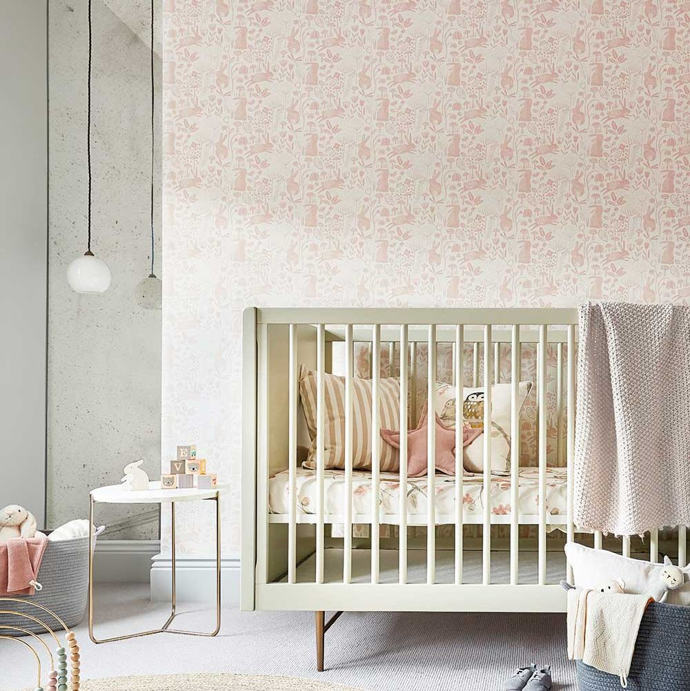 Into The Meadow  Wallpaper - Powder - by Harlequin