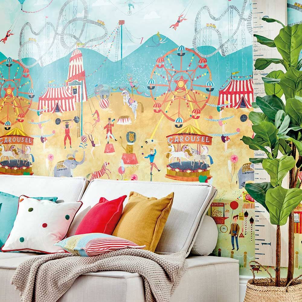 Lifes A Circus Mural - Carousel - by Harlequin