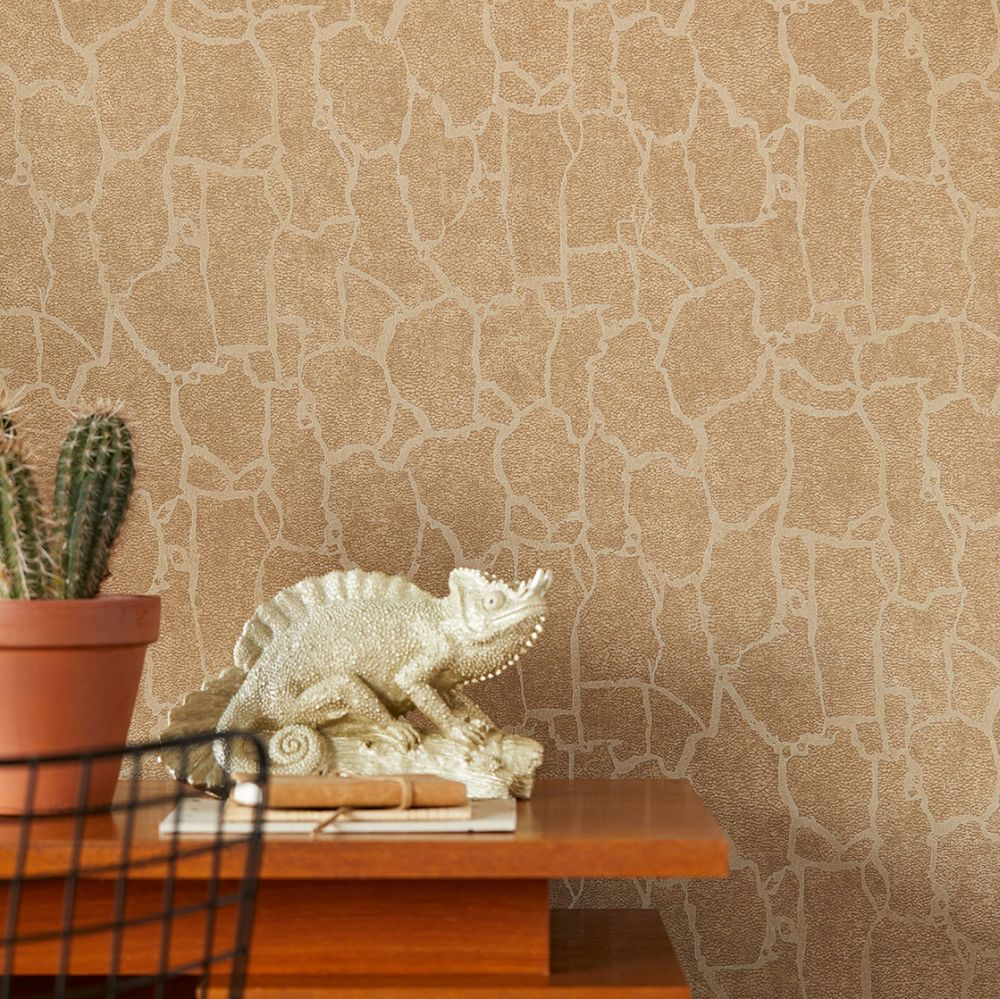 Giraffe Effect Wallpaper - Brown - by Eijffinger