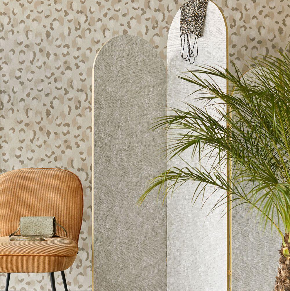 Ocelot Effect Wallpaper - Taupe - by Eijffinger