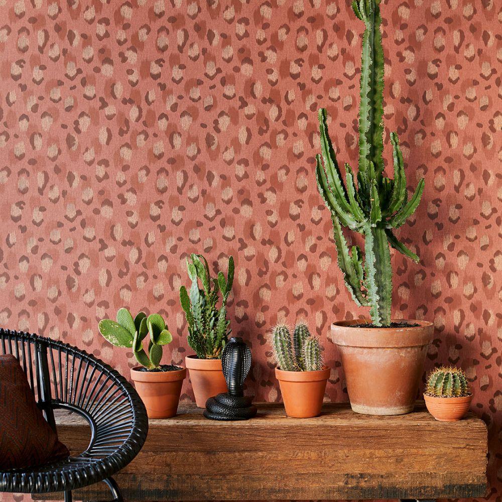 Ocelot Effect Wallpaper - Rose - by Eijffinger