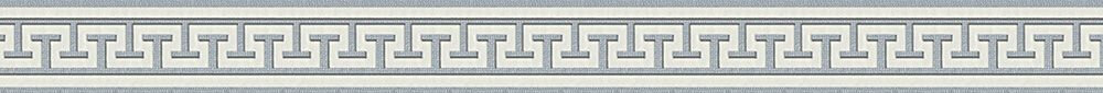 Aztec Stripe Border - Grey - by Albany