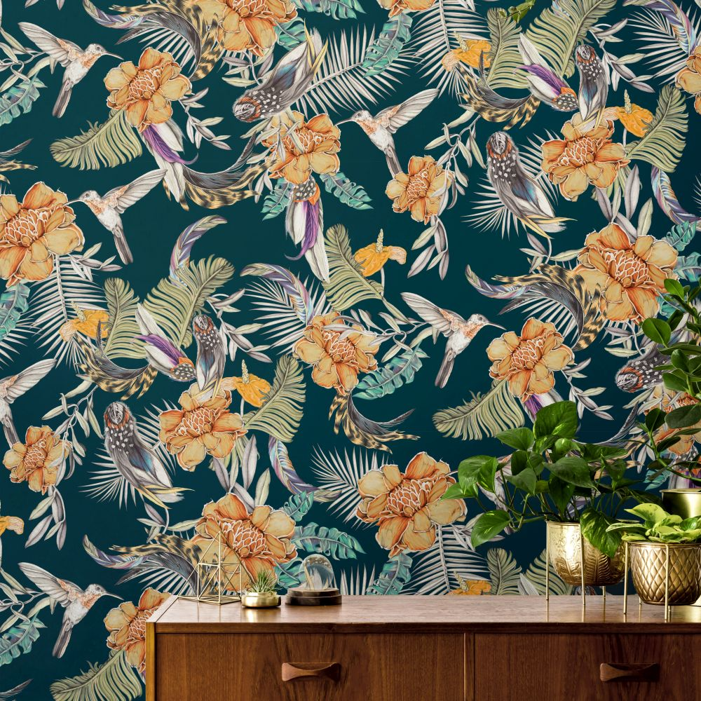 Lirica Wallpaper - Deep Green - by Tres Tintas