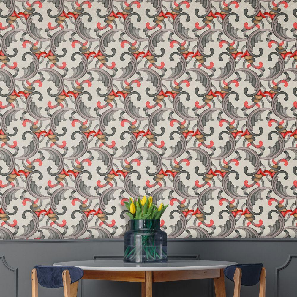 Romance Wallpaper - Grey - by Tres Tintas