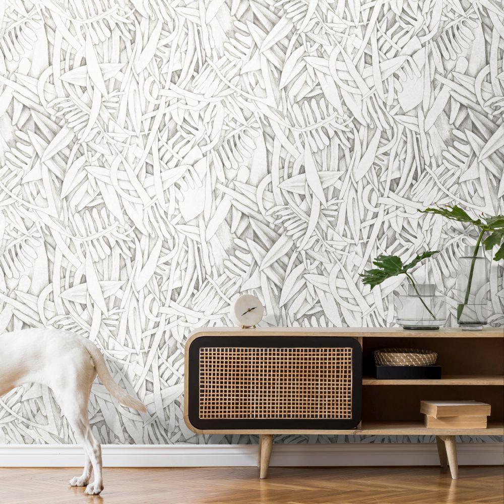 Prosa Wallpaper - Black / White - by Tres Tintas