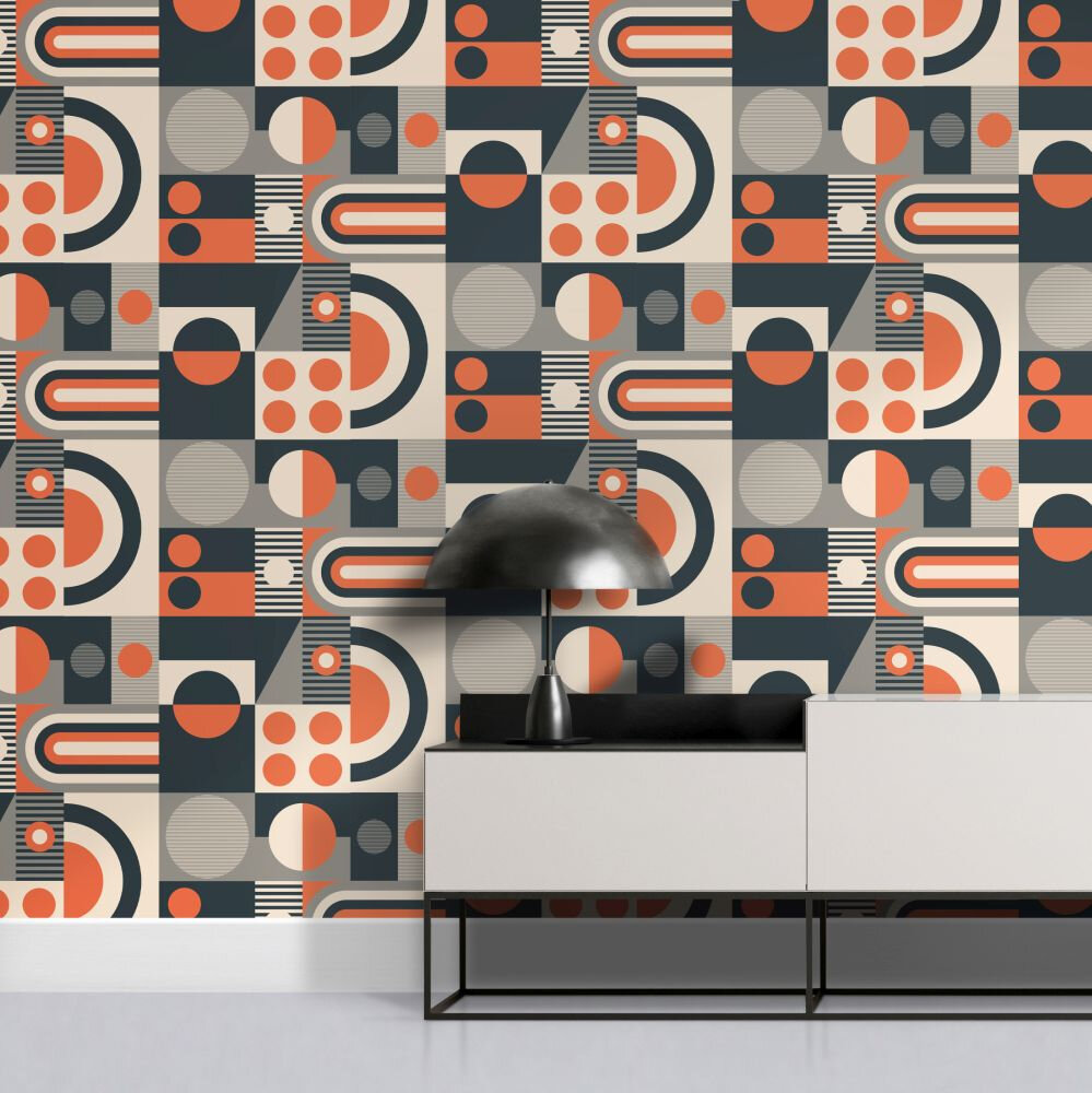 FAB! Wallpaper - Harvest Orange - by Albany