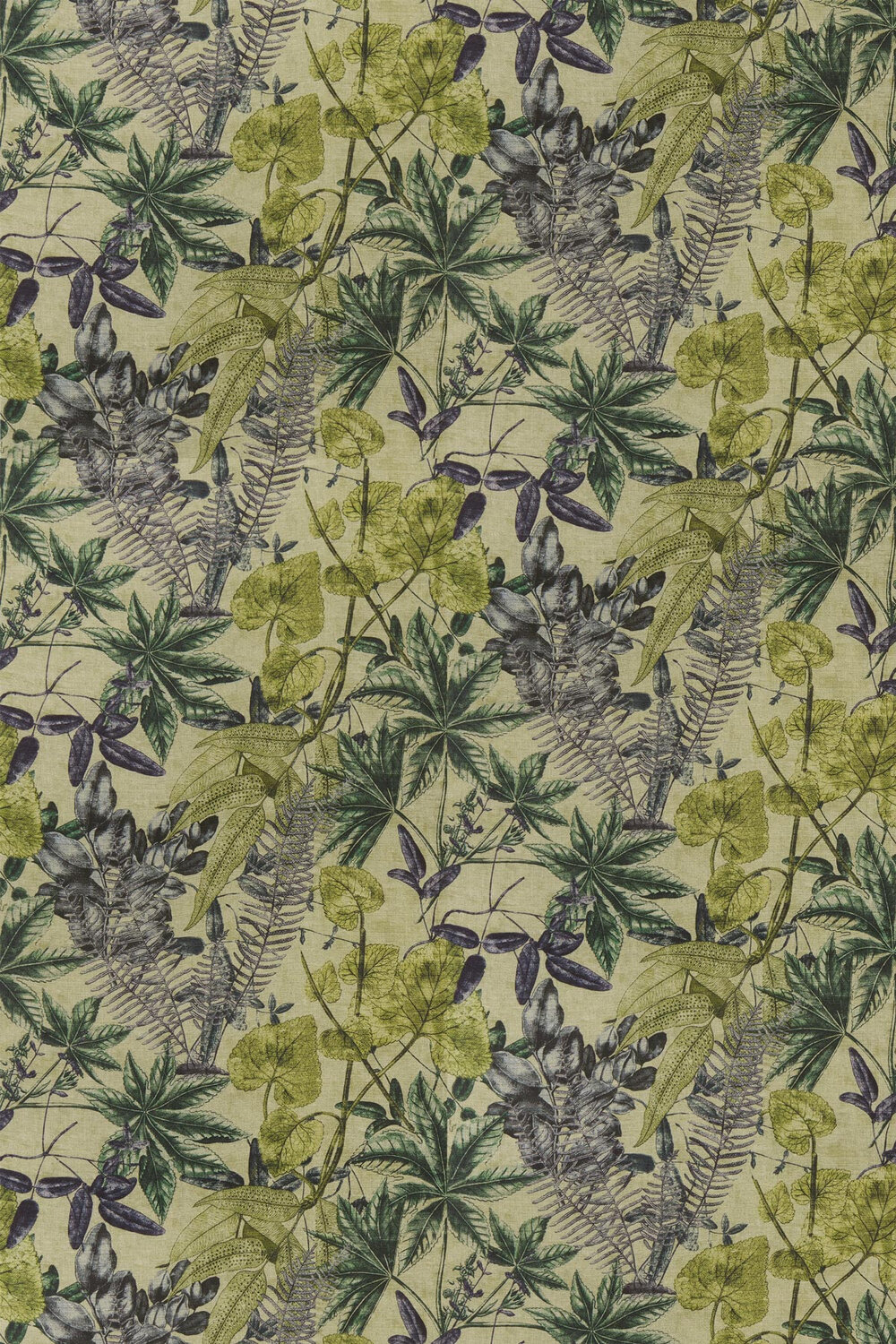 Madagascar Forest Fabric - Chartreuse / Jungle Green - by Clarke & Clarke