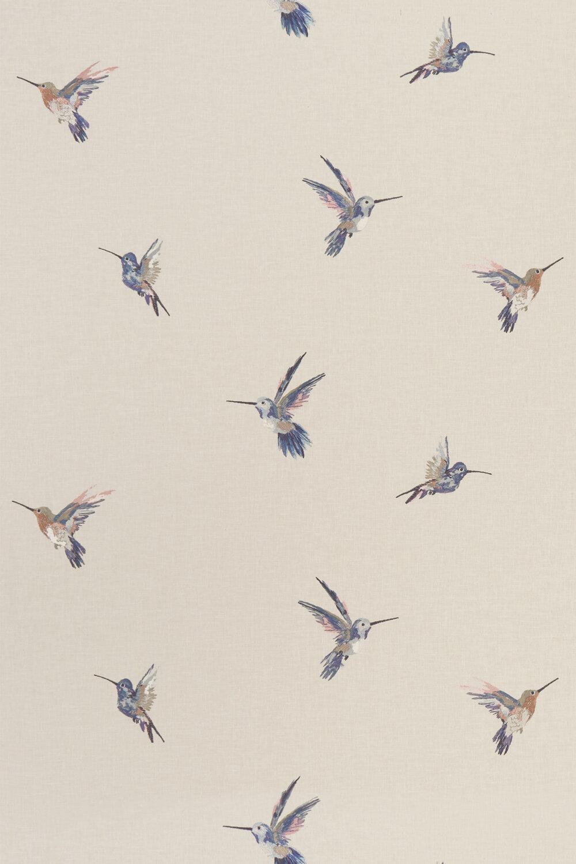 Woodstar Fabric - Pastel - by Clarke & Clarke